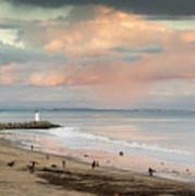 Evening On Seabright Beach Poster
