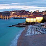 Evening Over Dubrovnik Poster