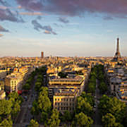 Evening Over Paris Poster