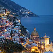 Evening Over Positano Poster