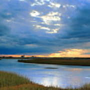 Evening Sky Over Hatches Harbor, Provincetown Poster