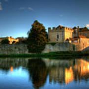 Evening Sun At Leeds Castle Poster