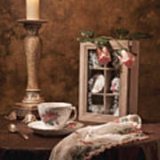 Evening Tea Still Life Poster