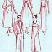 Evening Wear, 1956 Poster