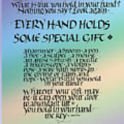 Every Hand Poster by Judy Dodds
