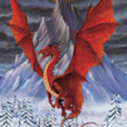Evil Red Dragon Poster