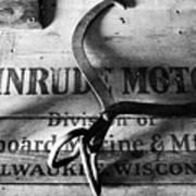 Evinrude Motors Crate Circa 1940s Poster