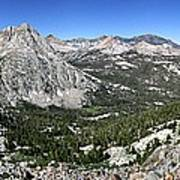 Evolution Lake And Valley Panorama From Darwin Bench - Sierra Poster