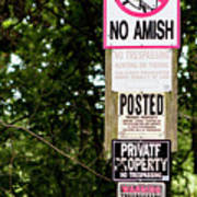 Excessive Property Signs Poster