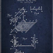 Exercise Machine Patent From 1961 - Navy Blue Poster
