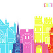 Exeter Skyline Pop Poster