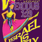 Exodus 1vs19 Israel Lively Poster
