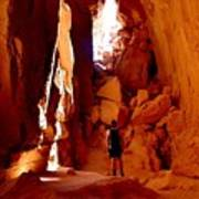 Exploring A Cave Poster