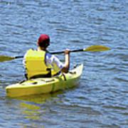 Exploring In A Kayak Poster