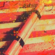 Explosive Comic Art Poster