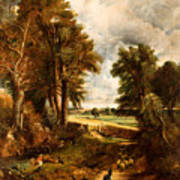 Extensive Landscape With Boy Drinking Water Poster
