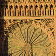 Exterior Of The Rose At Strasbourg Cathedral, France Poster