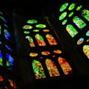 Exuberant Stained Glass Windows Poster