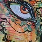 Eye In Orange Poster
