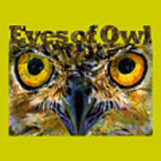 Eyes Of Owls 18 Shirt Poster