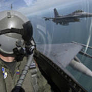 F-16 Fighting Falcons Flying Poster