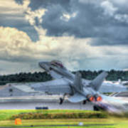 F-18 Hornet Takeoff Poster
