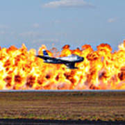 F-86 Wall Of Fire Poster