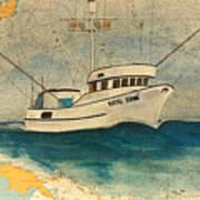 F/v Royal Dawn Tuna Fishing Boat Poster