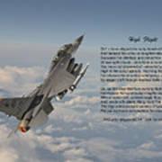 F16 - High Flight Poster
