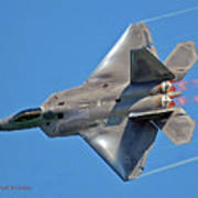 Fa 22 Raptor From Air Show Poster