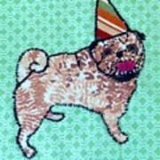 Fabric Pug Poster