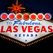 Fabulous Las Vegas Sign Poster