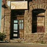 Facade American Pool Hall Coca-cola Sign Ghost Town Jerome Arizona 1968 Poster