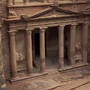 Facade Of The Treasury In Petra, Jordan Poster