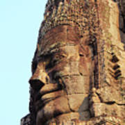 Faces Of The Bayon Temple - Siem Reap, Cambodia Poster