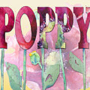 Faded Poppy Poster