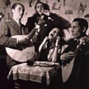 Fado Singer In Portuguese Night Club Poster