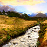 Faerie Lands - Beautiful Morning On The Isle Of Skye Poster by Mark E Tisdale