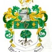 Fagan Clans Association Heraldic Arms Poster