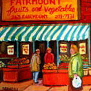 Fairmount Fruit And Vegetables Poster