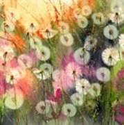 Fairy Dandelions Fields Poster