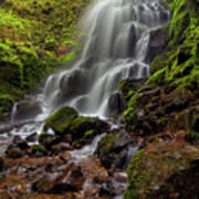 Fairy Falls In Columbia Gorge Poster