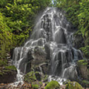 Fairy Falls On A Sunny Day Poster