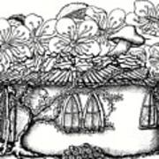 Fairy Hacienda With Floral Roof Poster