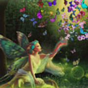 Fairy Of The Butterflies Poster