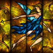 Fairy Tetraptych Poster by Mandie Manzano