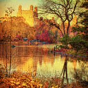 Fall Afternoon In Central Park Poster