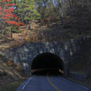 Fall At Bluff Mountain Tunnel Poster