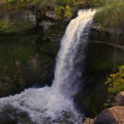 Fall At Minnehaha Falls Poster