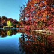 Fall At The Crosspointe Lake Poster